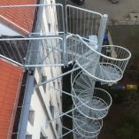 Spindeltreppe als Fluchttreppe