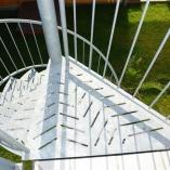 Fluchttreppe mit Blechstufen