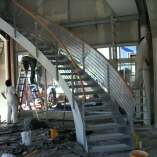 Innenbogentreppe im Aufbau