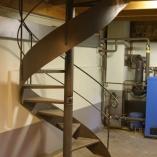 geschmiedete Innenspindeltreppe im Landhaus-Stil