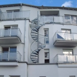 Außentreppe, Treppenturm