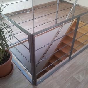 Flachstahl Geländer aus Edelstahl