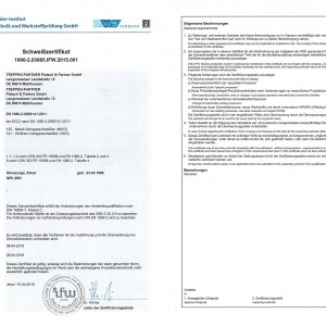 Zertifikat EN 1090-2